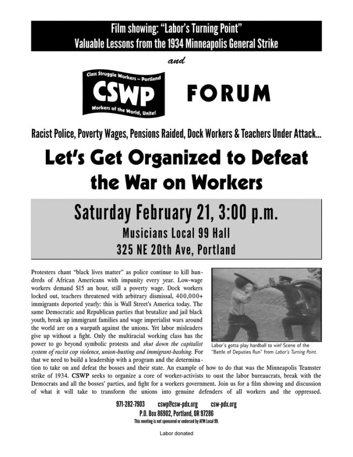 CSWP Forum 21 February 2015