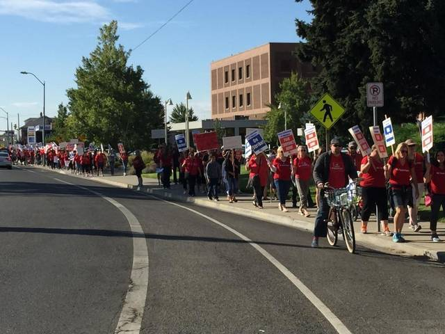 Pasco teachers continue strike on September 8 despite injunction.