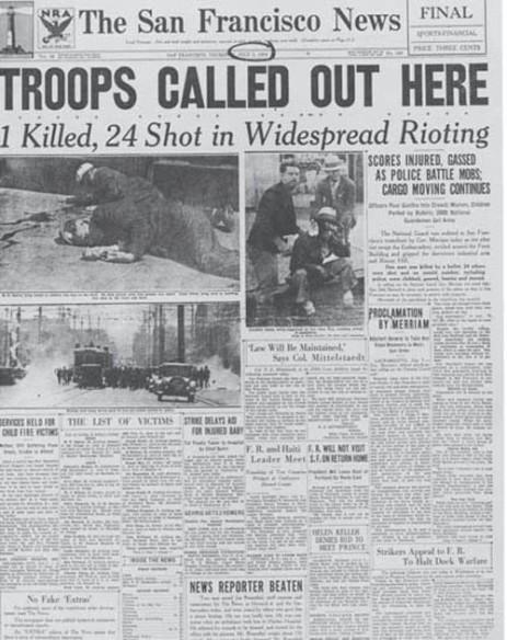 San Francisco newspaper Bloody Thursday ILWU