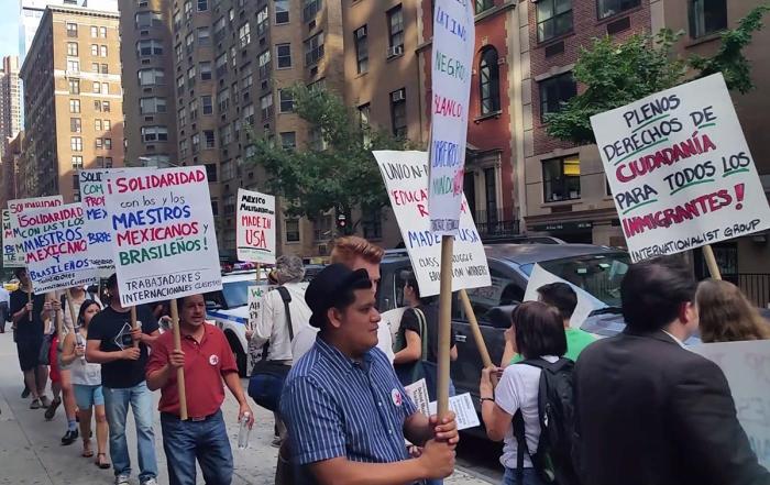 Nueva York, 17 de agosto: TIC en la manifestación en defensa del magisterio mexicano y brasileño en lucha, parte de un día de acción trinacional Brasil/México/EE.UU.