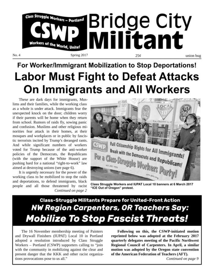 Bridge City Militant No. 4 (Spring 2017)