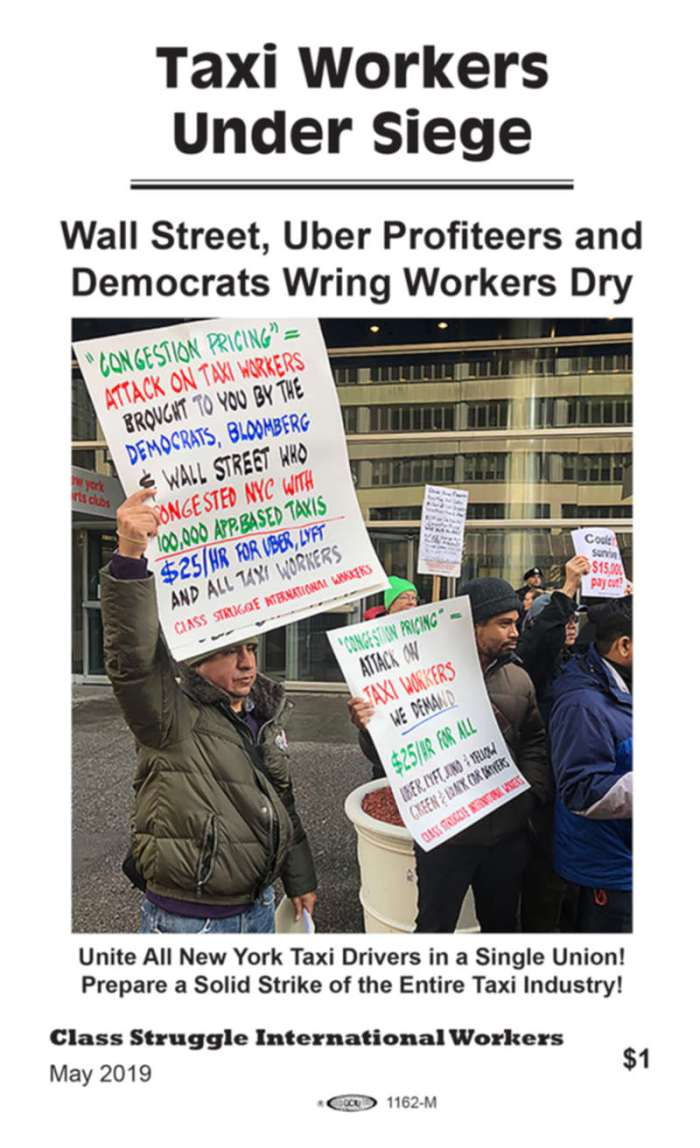 201905 CSIW Taxi workers under siege pamphlet cover